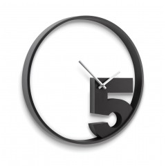TAKE 5 WALL CLOCK BLACK 118998-040