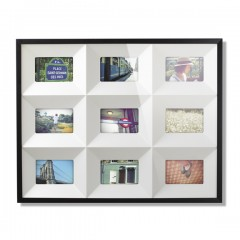 QUADRANT FRAMED ART BLACK 311130-040