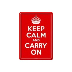 Nostalgic Art Metal Card Keep Calm and Carry On