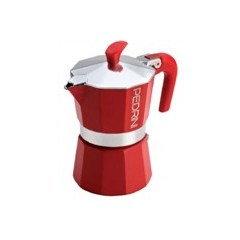 COFFEE POT ESPRESSO 6 CUPS RED 9124-340
