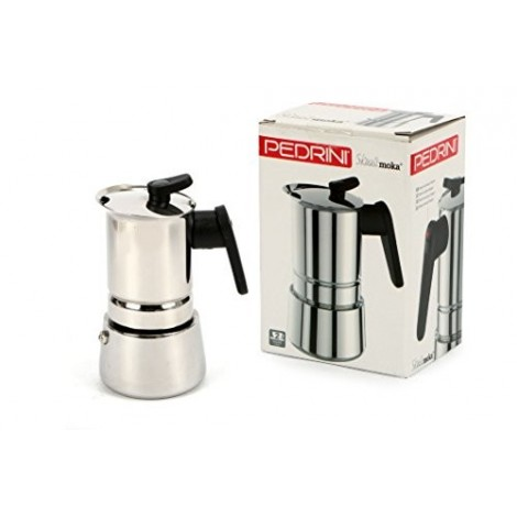 STEEL MOKA 4CUP STAINLESS INDC 02CF037