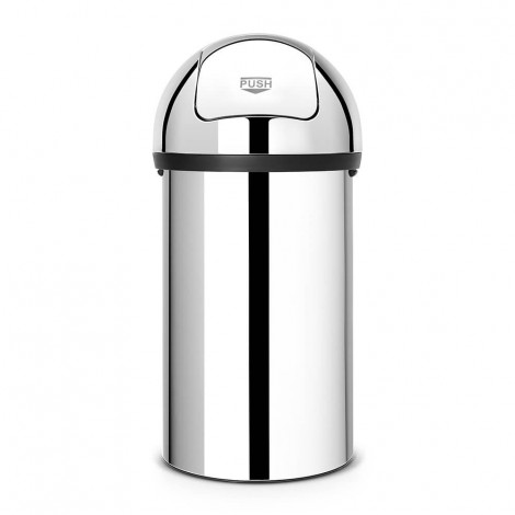 PUSH BIN 60L BRILLIANT STEEL 402623